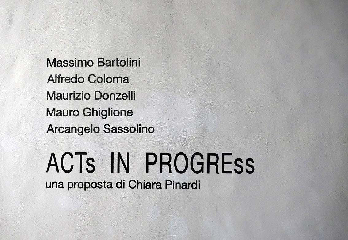 Acts in progress